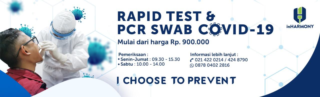 rapid test & PCR SWAB cepat